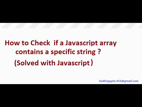 How to check if a javascript array contains a specific string
