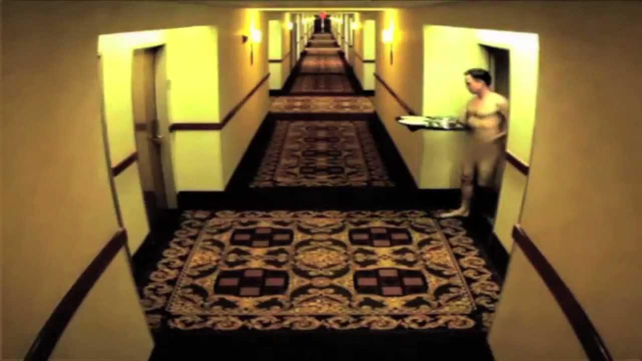 Naked girl walks hotel halls