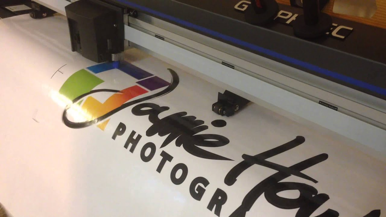 CNC Routed white acrylic full color contour cut sign by www ...