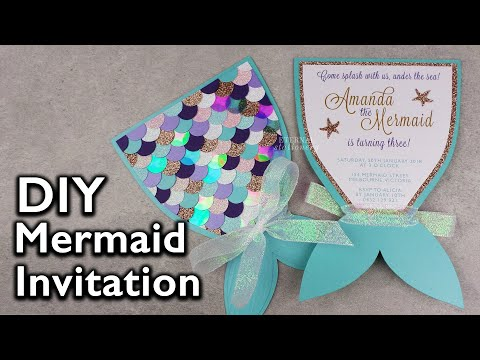 Amazing DIY Mermaid Tail Invitation