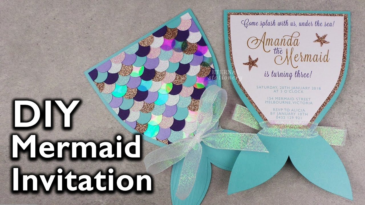 Amazing diy mermaid tail invitation birthday invitations eternal amazing diy mermaid tail invitation birthday invitations eternal stationery solutioingenieria Image collections