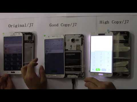 Samsung j7lcd Display with 3 Different Qulity (Original,Good,High) compared-Yezone