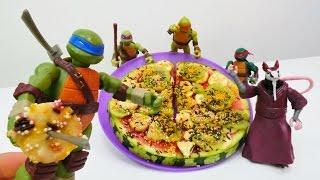 #NinjaKaplumbağalara KARPUZ pizza yapıyoruz! Yemek yapma oyunu. Eğlenceli #çocukvideosu