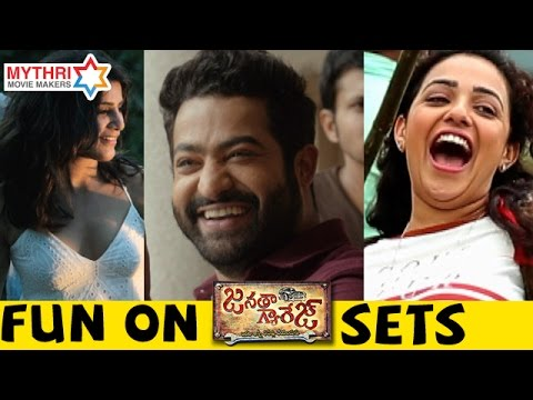 Janatha Garage Movie Team FUN ON SETS | Jr NTR | Mohanlal | Samantha | Nithya Menen | Kajal
