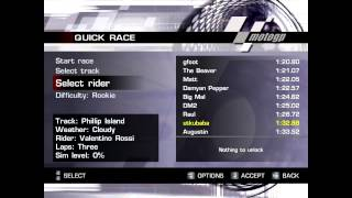 how to unlock all bikes,riders and tracks in motoGP