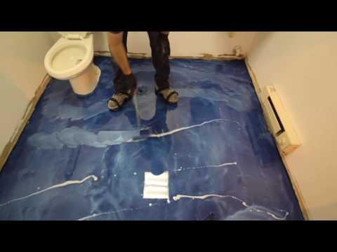Beach Themed Bathroom Floor
