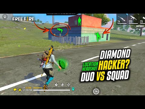 Found Hacker in Duo vs Squad HeadShot Hack, Free Fire Diamond Hack? and Location Hack
