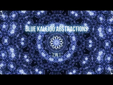 Blue Kaleidoscope Abstractions Stock Motion Graphics