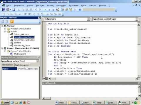 Open Office Vba Programmierung