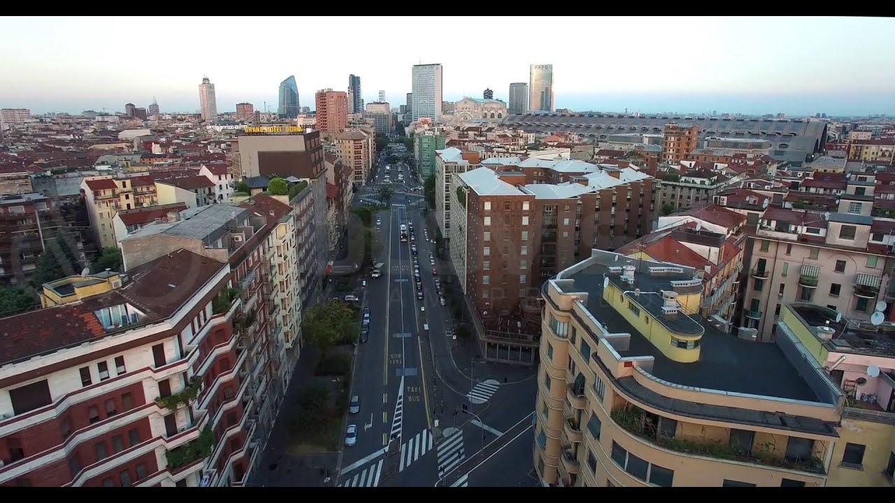 Milano porta nuova e stazione centrale 4k drone shots i - Via porta nuova milano ...