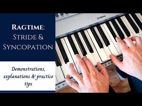 Ragtime Piano Tutorial for Beginners | Syncopation, Stride & Practice Tips (old video)