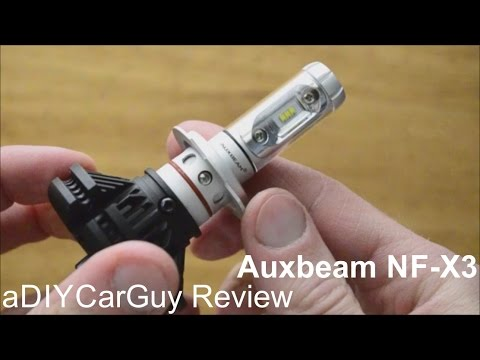 auxbeam nf x3 led headlight bulb test h7 youtube. Black Bedroom Furniture Sets. Home Design Ideas