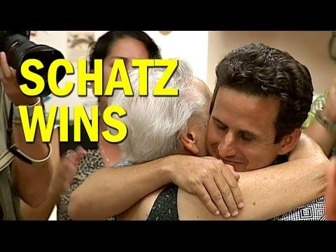 Brian Schatz Wins Senate Primary, Celebrates in Hilo