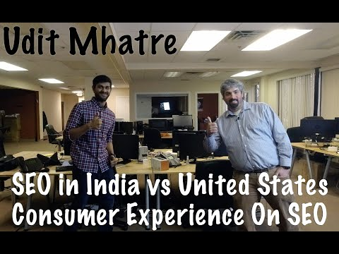 Udit Mhatre On SEO in India vs United States & Consumer Experience On SEO - #130 - YouTube