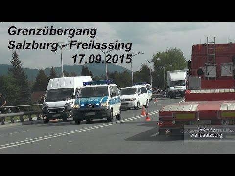 Grenzübergang Salzburg - Freilassing am 17.09.2015