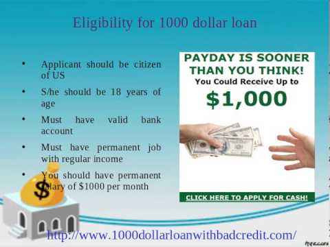 1000 dollar loan with bad credit: Instant Approval without credit check