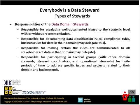 RWDG Webinar Everybody is a Data Steward - YouTube