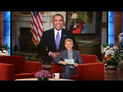 Thumbnail: Pres. Barack Obama on Ellen Breaking His Twitter Record
