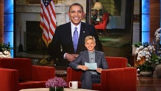 Pres. Barack Obama on Ellen Breaking His Twitter Record thumbnail
