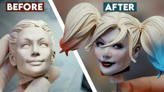 Painting the Harley Quinn Premium Format Figure | Sideshow Behind the Scenes