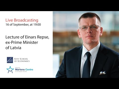 Lecture of Einars Repse, ex-Prime Minister of Latvia