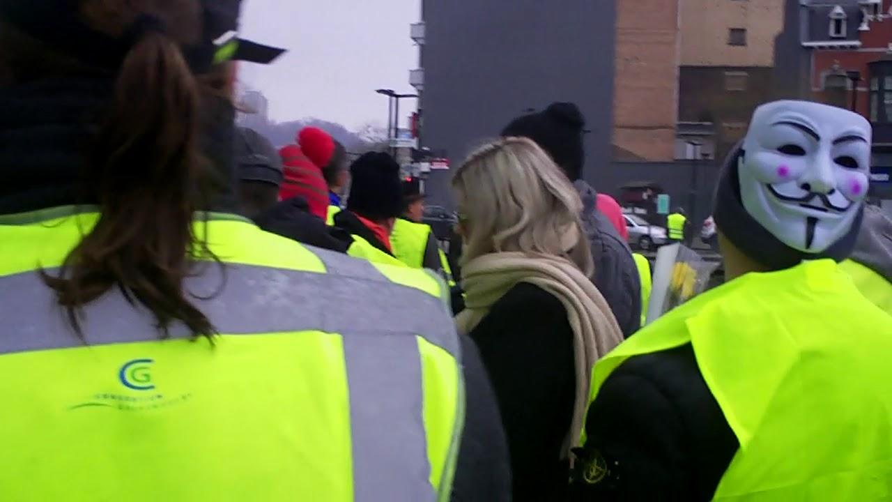 Gilets Jaunes de Liège - 12 janvier 2019, peu avant la marche silencieuse