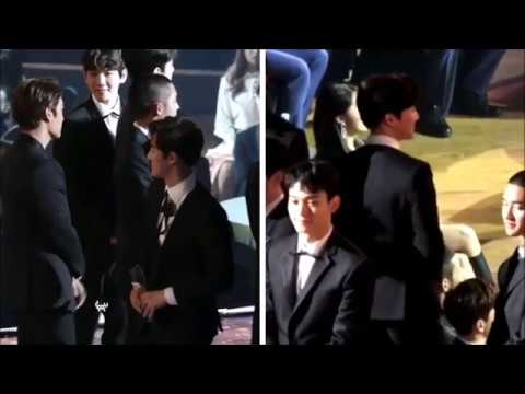 Suho & Eunji Asia Artist Awards 2017 cute moment