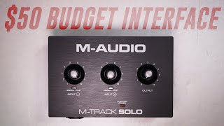 M-Audio M-Track Solo Audio Interface Review / Explained