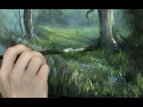 Oil Painting Free Lesson Fan Brush Tips Paint With