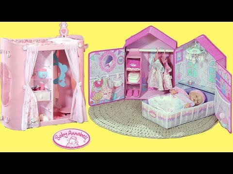 Thumbnail: Baby Annabell Bedroom , Wardrobe & Change Table -Organize Dolls accessories & Look after Baby Dolls