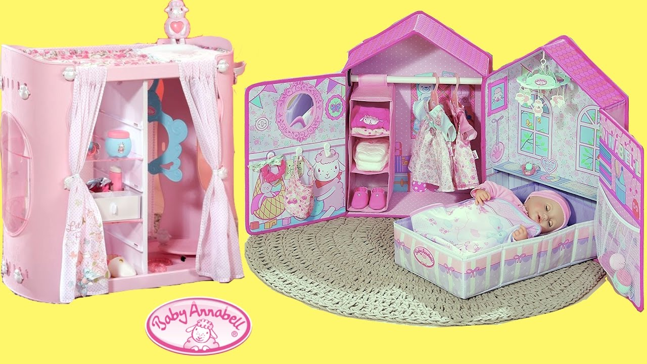 Baby Annabell Bedroom Wardrobe Change Table Organize Dolls - Anna bell baby wardrobe