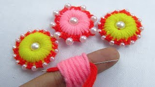 Hand Embroidery, Amazing Trick, Easy Flower Embroidery Trick, Sewing Hack, Crafts & Embroidery