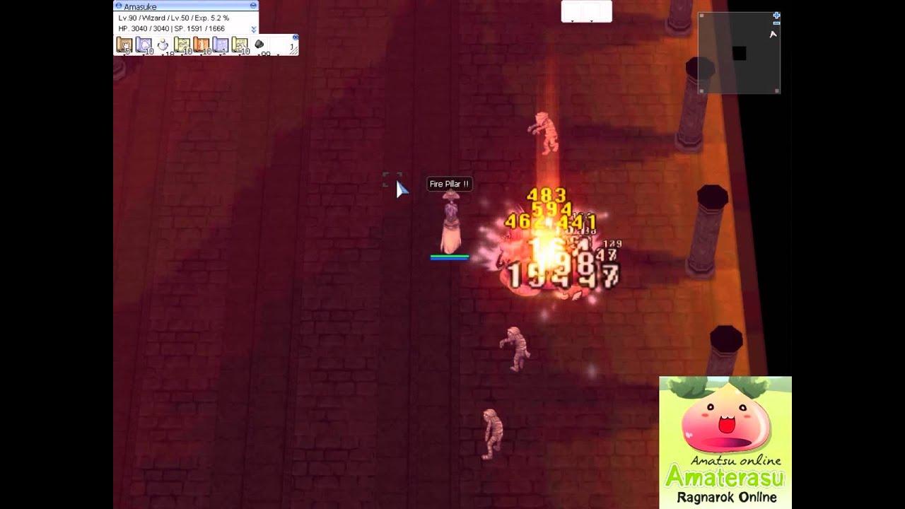 Amatsu Online - Skill Fire Pillar Wizard
