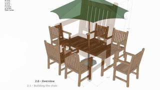 Gt100 - Garden Teak Table Woodworking Plans - Outdoor Furniture Plans Free