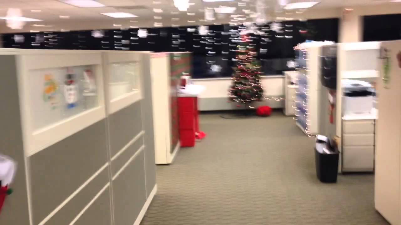 ridiculous christmas decorations at work