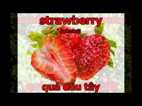 Từ Vựng Tiếng Anh Về Các Loại Hoa Quả - Fruit Vocabulary