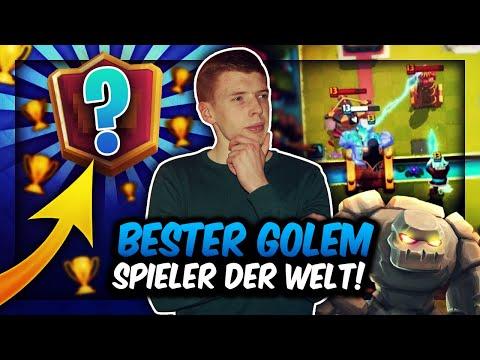 BESTER GOLEM SPIELER DER WELT! 😳 | PRO PLAYER ZERSTÖRUNG mit NEUEM DECK! | Clash Royale Deutsch