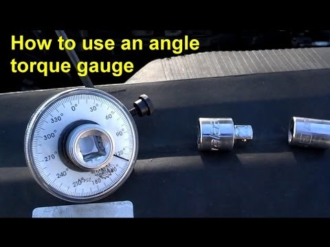 How to use an angle degree torque gauge - Auto Information Series