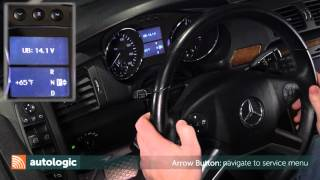 Mercedes Benz W251   Service and Maintenance Reset Using the Instrument Cluster US