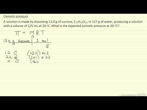 Osmotic Pressure Example (Example)