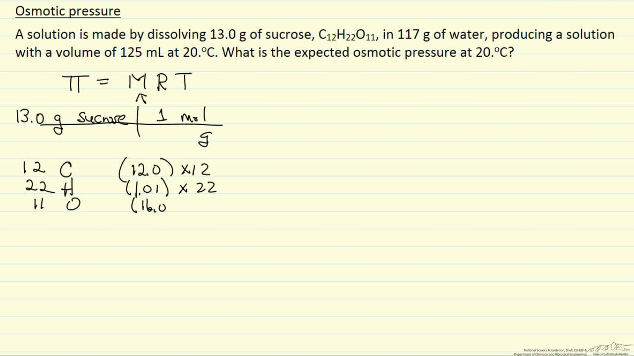 Osmotic Pressure  Definition Equation amp Examples