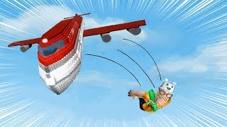 ROBLOX: TRY TO SURVIVE THE PLANE FALLING ON THE ISLAND! -Play Old man