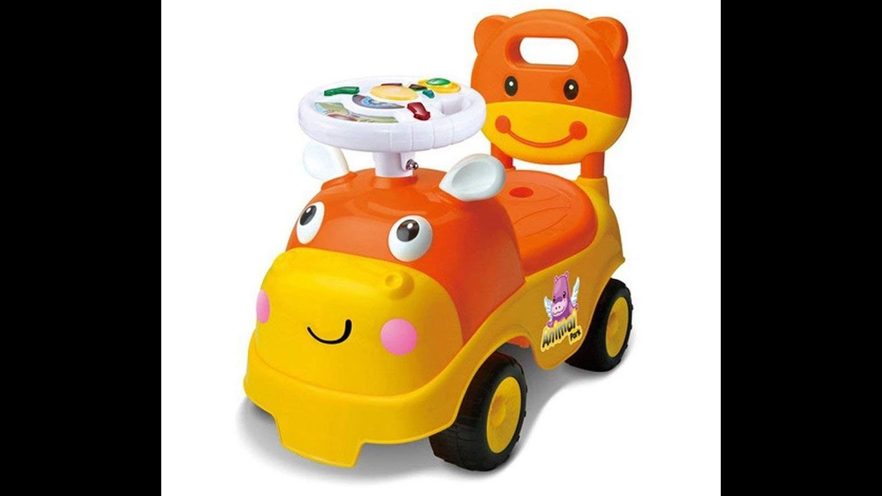 750a47e4da2 Baybee Hippo Race Kids Ride On Push Car for Toddlers Baby car Toy Children  Rider & Infant Baby car T