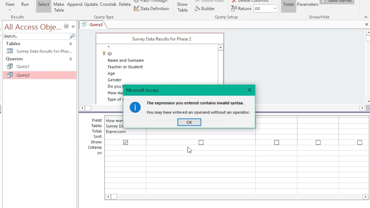 access problem: IIF function in Access Query