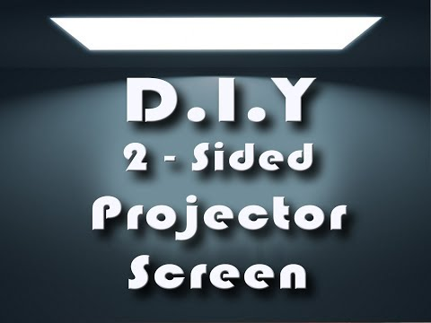 Projector Screen (2-Sided / Double Sided) DIY