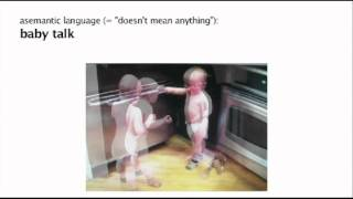 asemantic baby talk