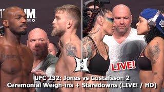 UFC 232: Jones vs Gustafsson 2 Ceremonial Weigh-ins + Staredowns (LIVE! / HD)