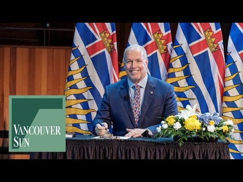 Premier John Horgan answers questions from the media following cabinet swearing-in | Vancouver Sun