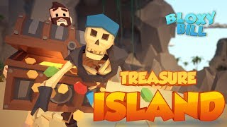 Bloxy Bill - 💀Treasure Island 🏝️ (Episode 1) - Funny Roblox Cartoons