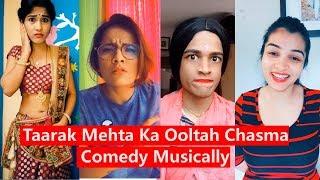 Taarak Mehta Ka Ooltah Chasma Comedy Dialogues Musically   Tapu, Mrunal, Jethalal